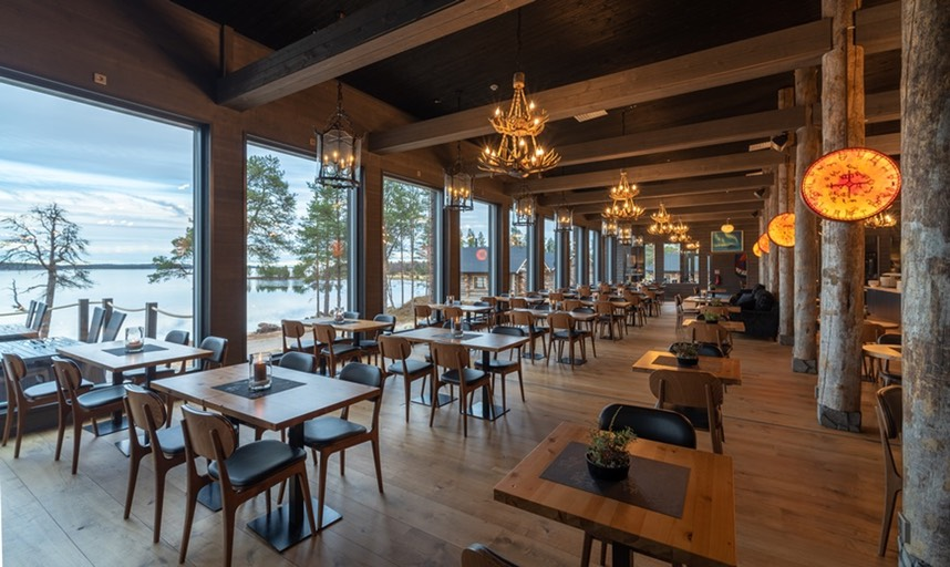 Inari Wilderness Hotel restaurant
