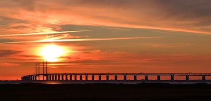 Sunset with Oresund Bridge