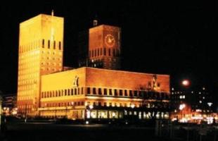 Oslo City Hall by night