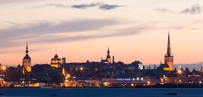 Tallin Panorama by night